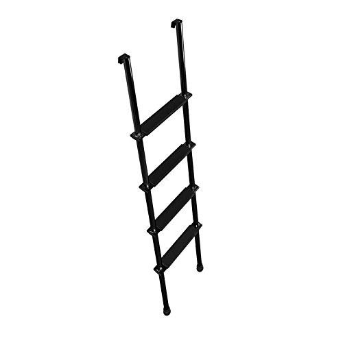 """Stromberg Carlson LA-460B 60"""" Black Bunk Ladder with Hook Retainer and Extrusions"""