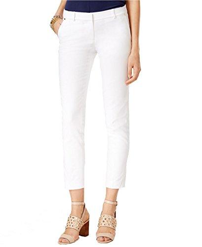 Michael Kors Petite Miranda Cropped Pants (White, - Miranda Mk