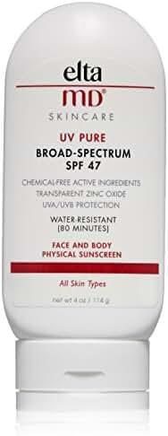 EltaMD UV Pure Broad-Spectrum SPF 47, 4.0 oz
