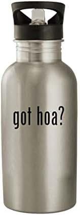 got hoa? - Stainless Steel 20oz Water Bottle, Silver