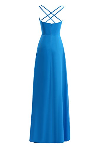 Long Blue Prom Women's Party Gown Evening Dasior Dress Fornmal Royal q6RO5zwv