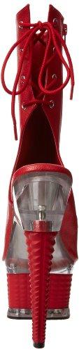41 eu Leather 1018 Matte Faux Pleaser Illusion 8 Uk red Red fzInvUv4