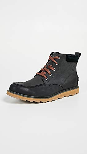 SOREL Waterproof Boots Men's Madson Black Grill Toe Moc rrg1H