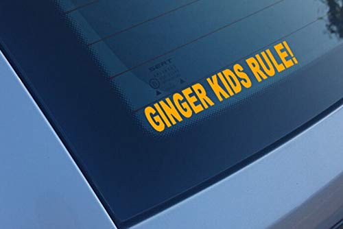 (Vinyl Stickers Ginger Kids Rule Funny Car Window Bumper Decal)