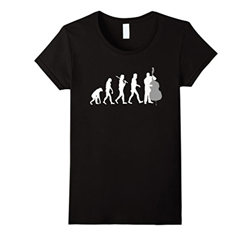 Lightweight Double Bass (Double Bass Player Evolution Funny Music T-Shirt - Female Large - Black)