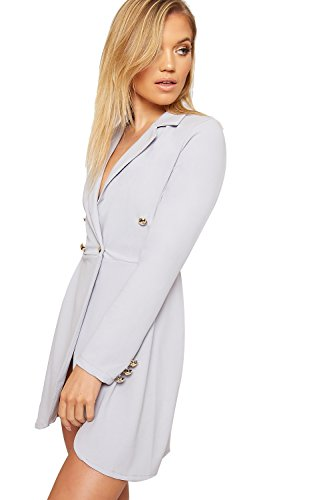 36 Cardigan 42 Blazer Veste Double Bouton Dames Gris Haut WearAll Longue Clair Femmes Breasted Manche P41wxSfAq