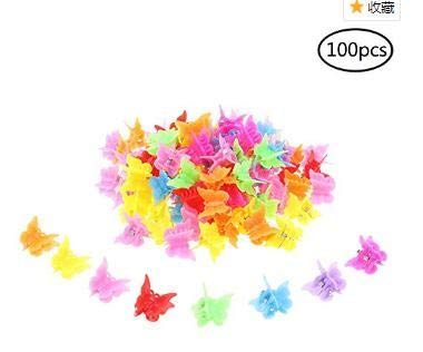 - 100 Pieces Hair Clips Claw Butterfly Hair Clips Barrettes Assorted Color Mini Jaw Clip Hairpin Hair Accessories for Women and Girls