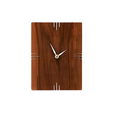 Oscar Hand-Carved Natural Wood Wall Clock in Solid Walnut | from Son of a Sailor