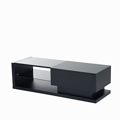HomCom 51'' Modern TV Stand Media Center - Black by Overstock (Image #6)'