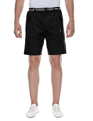 - TOPSUN Mens Outdoor Quick Dry Nylon Shorts with Cargo Zipper Pockets for Hiking Travel Black Size XL