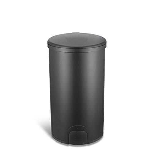 Ninestars TTT-45-8BK Toe Tap Automatic Touchless Motion Sensor Round Trash Can, 11.9 Gal. 45 L, Black