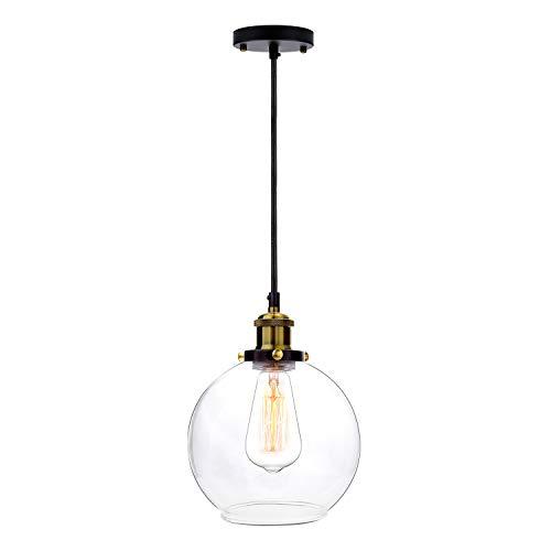 Frideko Vintage Ball Glass Ceiling Pendant Light