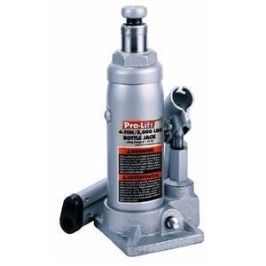 Pro Lift Bottle Jack Hydraulic 8'' - 15 - 3/8'' 4 Ton Silver/Red Display Box