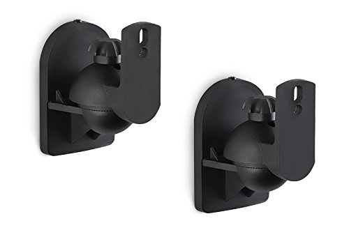 - Mount-It! Speaker Wall Mount Full Motion Brackets for Surround Sound Satellite Ceiling and Bookshelf Speakers, 2 Mounts, Black