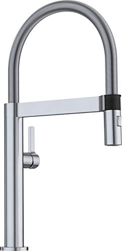 BLANCO 441623 Culina Mini Kitchen Faucet with Pull Down Spray, Small, Satin Nickel, 2.2 GPM
