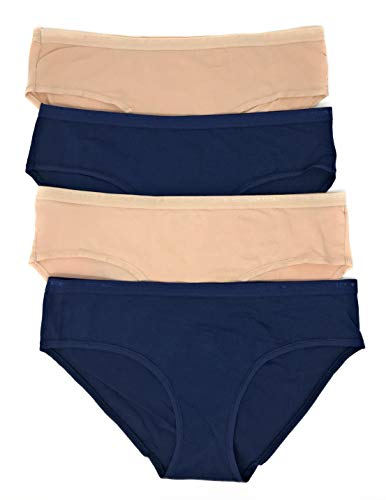 Victoria's Secret Hiphugger Panty Set of 4 Large Nude/Navy/Nude/Navy