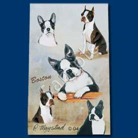 Boston Terrier Roller Ball Pen Designer Ruth Maystead