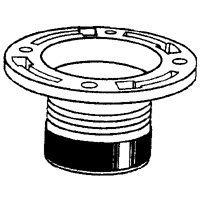 Oatey 43651 PVC Twist-N-Set Closet Flange, - Closet 4 Inch Flange