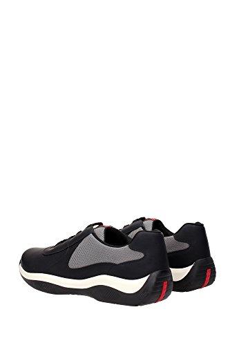 Sneakers Prada Herren Schwarz Schwarz Herrenschuhe Schuhe Leder qwRUp1