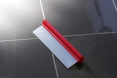 Glart - Espátula de silicona con agarre ergonómico para secar ventanas, cuarto de baño, ducha, espejos, cristales y grandes superficies, limpia 31 cm de superficie de una pasada: Amazon.es: Hogar