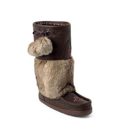 Amazon.com | Manitobah Waterproof Snowy Owl Grain Mukluk