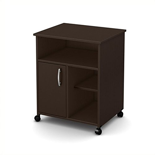 South Shore 1-Door Printer Stand with Storage on Wheels, Chocolate (Best Affordable Home Espresso Machine)
