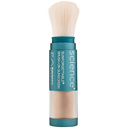 Colorescience Sunforgettable Mineral SPF 50 Sunscreen Brush (Colorscience Sunforgettable Brush On Sunscreen With Spf)