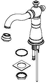 UPC 034449483360, Delta Faucet RP34351SS Victorian, Spout Assembly for Widespread, Stainless