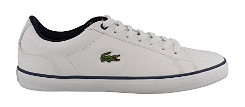 Lacoste Mens, Lerond 317 Sneakers Stringate Bianco Navy