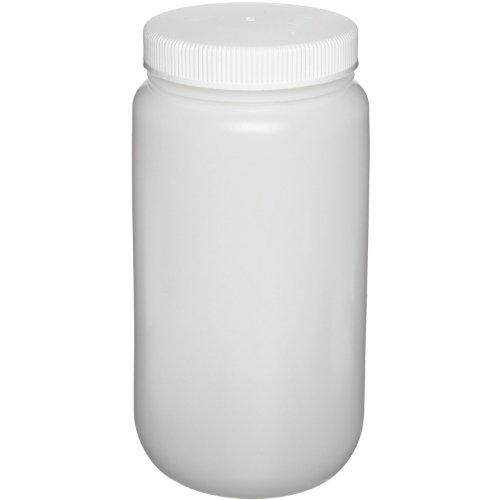 Nalgene 2104-0016 Wide-Mouth Bottle, HDPE, 500mL (Pack of 12)