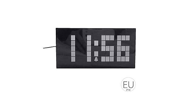 Morza Gran Pantalla de la Pared del LED Digital Desk Relojes de Alarma Temporizador de Cuenta atrás con luz Nocturna Temperatura del Calendario para el ...