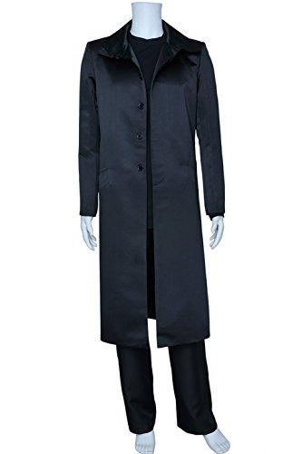 Khan Costume Star Trek Into Darkness (XOMO Star Trek Cosplay Into Darkness Khan Black Costume Male XL)