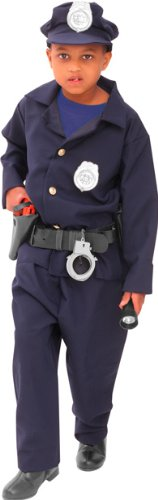 Child's Deluxe Policeman Halloween Costume (Size: Large 12-14)
