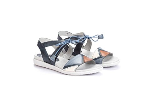 Sandals Lace Blue Leather Ocean Womens Antillas Pikolinos IqB4zZ