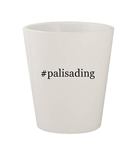 - #palisading - Ceramic White Hashtag 1.5oz Shot Glass