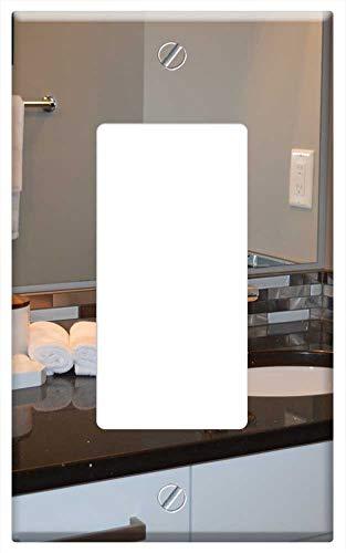 Customizable Bathroom Vanity Light - Switch Plate Single Rocker/GFCI - Sink Bathroom Vanity Counter Mirror House Home