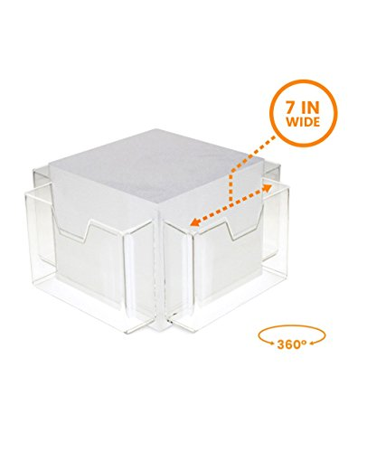 Greeting Card Display Holder - Source One Deluxe Acrylic Rotating Counter Top Greeting Card Holder (1 Tier)