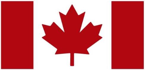 2 Canadian Skull Decal Canada Flag Skull Sticker Maple Leaf ipad graphic