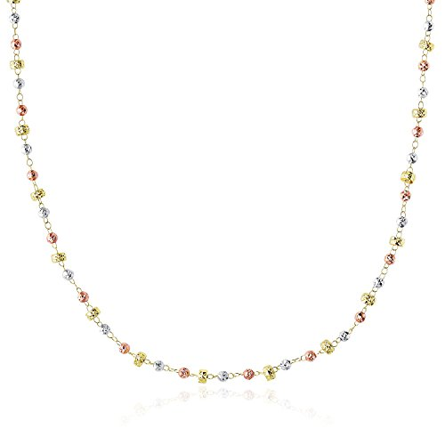 ecklace with Textured Round and Barrel Bead Links (Link Necklace Gold Fancy Bead)