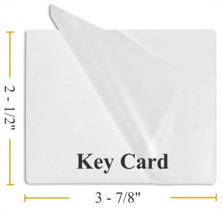 5 Mil Key Card 2 1/2 x 3 7/8 - 100 Laminating Pouches - Guardian Choice Paper Finishing Supplies
