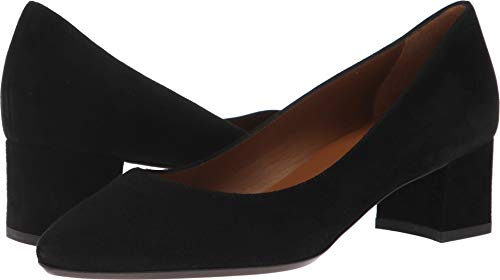 Aquatalia Women's Pasha Dress Suede Pump, Black, 7 M US