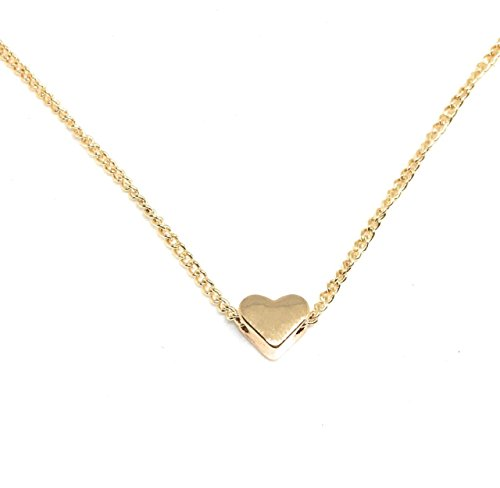 Hershey Kiss Costumes For Adults (Heart Pendant Necklace - Floating Heart - Heart Minimalist Jewelry with Lobster Clasp Valentine's day Gift)