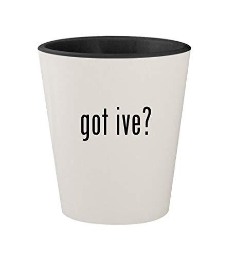 got ive? - Ceramic White Outer & Black Inner 1.5oz Shot Glass