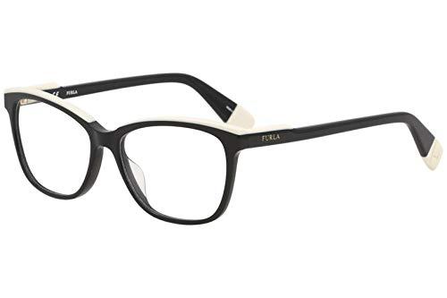 Furla Womens Eyeglasses VU4970N VU/4970/N 0700 Black Full Rim Optical Frame 52mm
