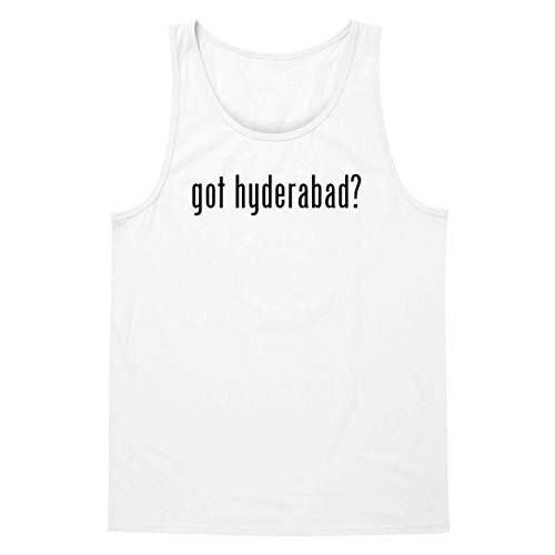The Town Butler got Hyderabad? - A Soft & Comfortable Men's Tank Top, White, Small