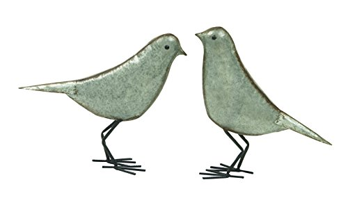 Deco 79 44526 Metal Bird Sculpture (Set of 2), 12''/13'' H by Deco 79