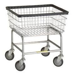 R&B Wire 100D Narrow Wire Laundry Cart, Chrome