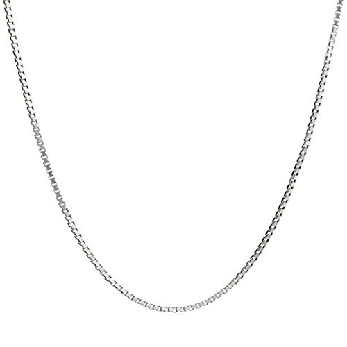 Hermosa 3 PCS/Lot 925 Silver Plated 1MM 2MM Box Chain Italian Crafted Necklace Super Thin & Strong 16