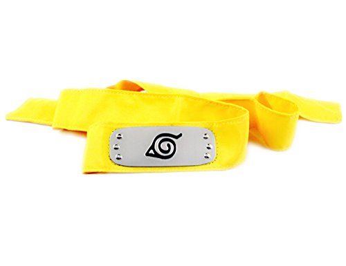 [Generic Ninja Headband Konoha Village Ninja Shinobi Naruto Cosplay Headband / Forehead Protector,Sennin Moodo,Immortal mode (Yellow] (Konoha Shinobi Costume)