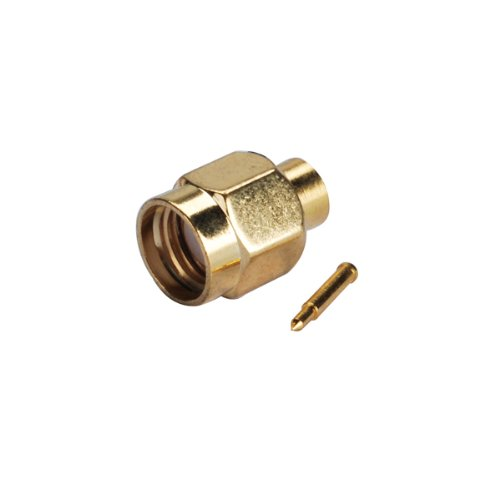 Eightwood SMA Male Connector Solder Mount for .141